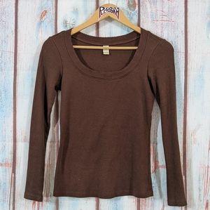 💎 Kavio Wide Neck Knit Top Brown Size M
